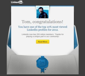 Top 10% of Linked In